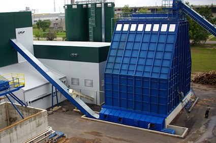 Biomass storing and discharge equipment